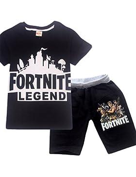 SERAPHY Camisetas y Shorts Set para Niños Ropa Fortnite Ropa para Chicos