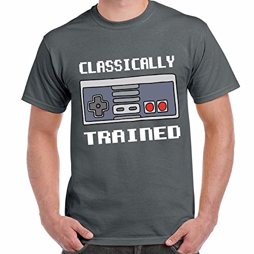 T-Shirt Divertente Uomo Maglietta Con Stampa Videogame Vintage Anni 90 Classic Chemagliette! Antracite