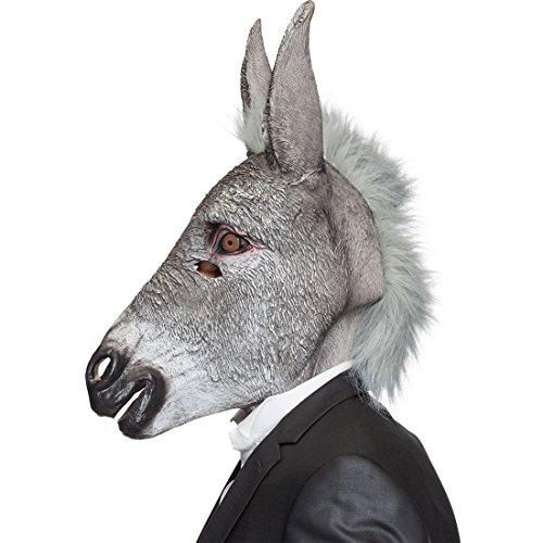 aultier Tiermaske Eselsmaske Latex Esel Maske Karnevalskostüme Accessoires Donkey Faschingsmaske Muli Latexmaske ()