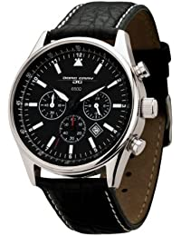 Jorg Gray JG6500NC - Reloj cronógrafo de caballero de cuarzo con correa de piel negra - sumergible a 100 metros