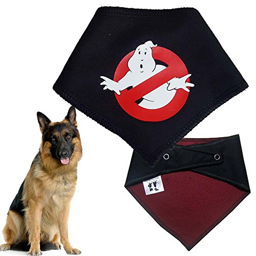 Spoilt Rotten Pets Hunde-Halstuch, Muster: Ghost Busters, retro 1980