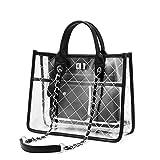 Strandtasche Shopper Durchsichtige Tasche Transparente Tasche Handtasche Damen Fashion Freizeit...