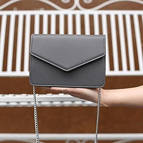 Paquet D'enveloppe De La Chaîne Téléphonique BUKUANG épaule Messenger Petit Sac à Main Simple Mode D'été,Grey