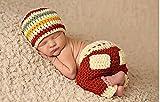 Jastore ® Foto Fotografie Prop Baby Kostüm süß Streifen häkel Stricken Handarbeit