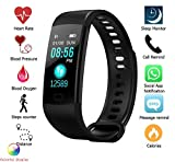 #8: Celestech CTY5 Smart Band with Color OLED Screen with Heart Rate Monitor, BP Monitor, Pedometer and Accurate Fitness Activity Tracker (Black)