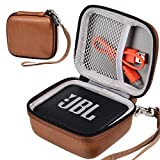 ustodia per JBL GO 2, Custodia rigida per borsa rigida EVA JBL GO 2 per altoparlante Bluetooth ricaricabile portatile JBL Go Ultra, Tasca in rete per caricabatterie e cavi (marrone)