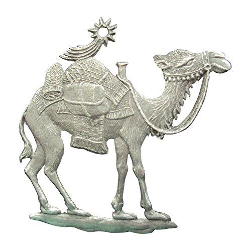 Zinngeschenke Kamel aus Zinn von Hand patiniert (HxB) 5,5 x 5,0 cm, Christbaumschmuck