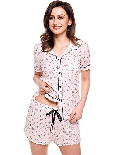 Herren Pyjama Baumwolle Set Schlafanzug Hausanzug Nachtwäsche kurzam M L XL 2XL