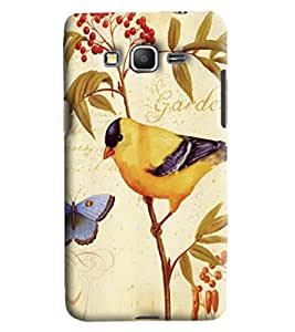 Blue Throat Garden With Bird And Butterfly Printed Designer Back Cover/Case For Samsung Galaxy Grand Prime
