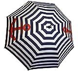Sonia Originelli Stockschirm Maritim Anker Streifen Regenschirm Schutz Farbe Marineblau