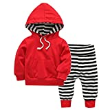 Domybest 2 stücke Herbst Unisex Baby Kleidung Set Kordelzug Tasche Hoodies + Pants (4-6 Mt)