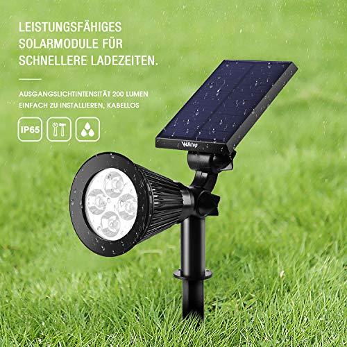 4 x LED Solar Foco Luces de Jard/ín Blanco C/álido Landscape Spotlight para Jard/ín Iluminaci/ón