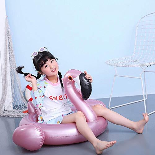 YHYZ Schwimmringe aufblasbarer PVC Baby weißer Schwan Flamingo kindersitz Schwimmbad Strand Spielzeug für Kleinkinder unter 4 Jahren, roségold Flamingo