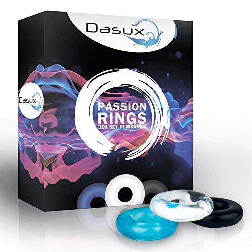 Dasux Donut Penisring im farbigen 3er Set - Das hochwertige Cockring-Bundle mit maximalem Tragekomfort für noch intensiverem Genuss mit Ihrem Partner