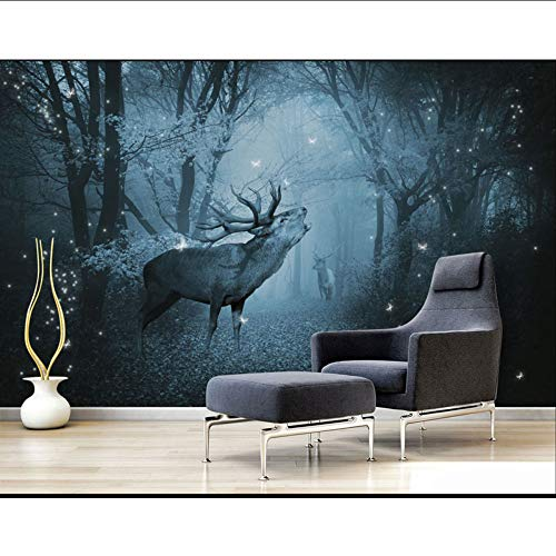 Guyuell Hirtenwandpapiere Waldelchfoto-Tapete-Wandwohnzimmer-Schlafzimmer Papel De Parede 3D-350Cmx245Cm