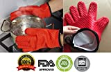Best Insulated Barbecue And Food Gloves - Sanskriti Premium Products Silicone Kitchen Gloves [Fabric Lining Review
