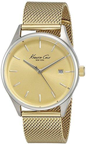 Kenneth Cole Women's New York 10029401 Gold Stainless-Steel Quartz Fashion Watch