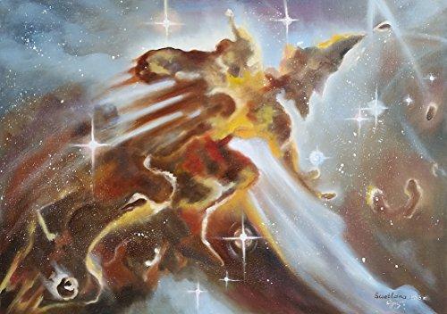 heaven-warrior-eagle-nebula-handmade-original-oil-painting-on-canvas-size-50x70-cm-2015-by-svetlana-