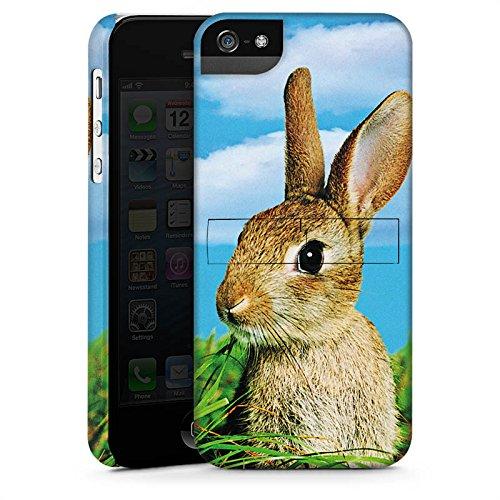 Apple iPhone 4 Tasche Hülle Flip Case Kaninchen Hase Häschen Premium Case StandUp