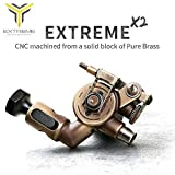 Dragonhawk Extreme X2 Rotary Tattoo Machine Brass Frame CNC Machine RCA Connected for Tattoo Artists (WQJ2)