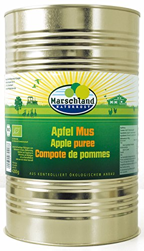 MARSCHLAND Apfelmus mit Rohrohrzucker, 1er Pack (1 x 4.25 kg)