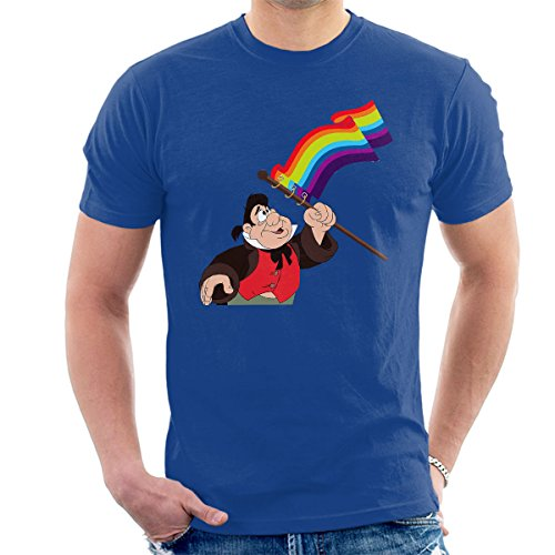 Le Fou Pride Flag Beauty And The Beast Men's T-Shirt Royal Blue