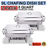 Best Chafing Dishes - TravelerK Chafing Dish Set of 2 Stainless Steel Review
