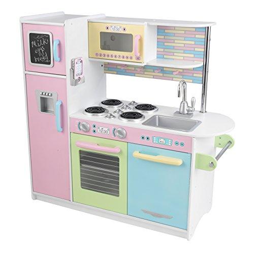 Kidkraft Uptown Küche Pastell 53257 aus Holz - Pastellfarbene Spielküche Küche