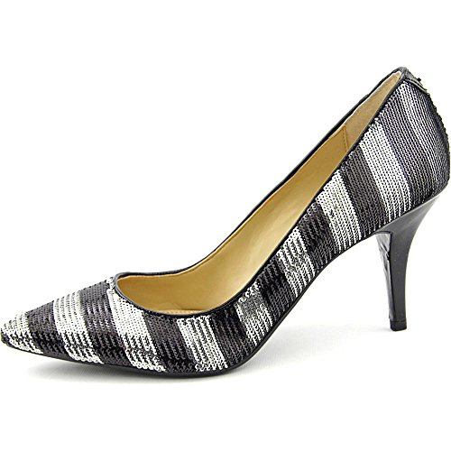Michael Michael Kors Flex Mid Pump Synthétique Talons Black-Silver