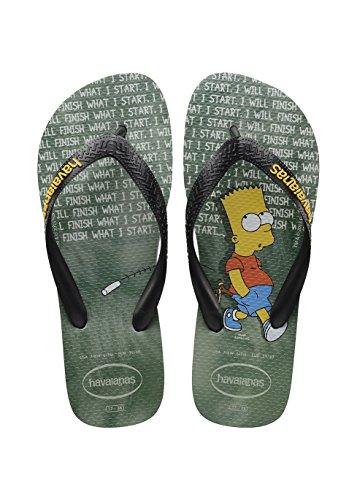 Havaianas Herren/Damen Flip Flops Simpsons Grösse 37/38 Ice Grau Zehentrenner für Männer/Frauen