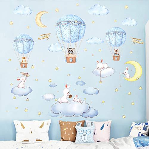 Yirenfeng Kindergarten Schlafzimmer Layout Nickerchen Raum Cartoon Wand Paste Niedlich Nachtwand Paste Selbstklebend, F