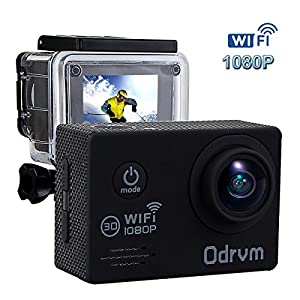 ODRVM HD 1080P Action Camera With 2.0Inch LCD And WIFI