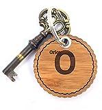 Mr. & Mrs. Panda Schlüsselanhänger Nachname Orlowski Rundwelle - 100% handgefertigt aus Bambus Holz - Anhänger, Geschenk, Nachname, Name, Initialien, Graviert, Gravur, Schlüsselbund, handmade, exklusiv