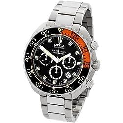 DOXA SUB 300t-graph Sharkhunter Sapphire bezel Herren Automatik Uhr mit schwarzem Zifferblatt Chronograph-Anzeige und Silber Edelstahl Armband 878.10.101.10