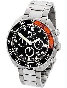 DOXA SUB 300t-graph Sharkhunter Sapphire bezel Herren Automatik Uhr mit schwarzem Zifferblatt Chronograph-Anzeige...