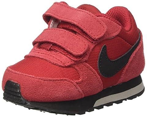 Nike Md Runner 2 (Tdv), Sneakers Garçon, Multicolore (Gym Red/Black/Cobblestone), 27 EU