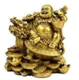 #10: ACTC Feng Shui Laughing Buddha | Happy Buddha Sitting on Turtle | Maitreya Buddha for Health and Happiness | Money Man