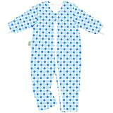 Odenwälder Jersey-Schlafoverall Hopsi Kreise bleu & blue