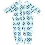 Odenwälder Jersey-Schlafoverall Hopsi Kreise bleu & Blue, Größe:98/104