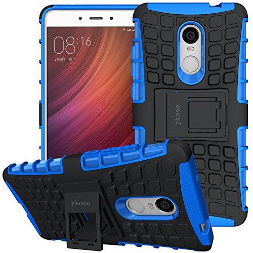 """ykooe Xiaomi Redmi Note 4 Hülle, (Silikon Series) Xiaomi Redmi Note 4 Dual Layer Hybrid Handyhülle Drop Resistance Handys Schutz Hülle mit Ständer für Xiaomi Redmi Note 4 / 4X (Blau) 5.5"""""""