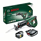 Bosch Home and Garden 06033B2300 Sierra Sable, 18 W, 18 V, Negro, Verde