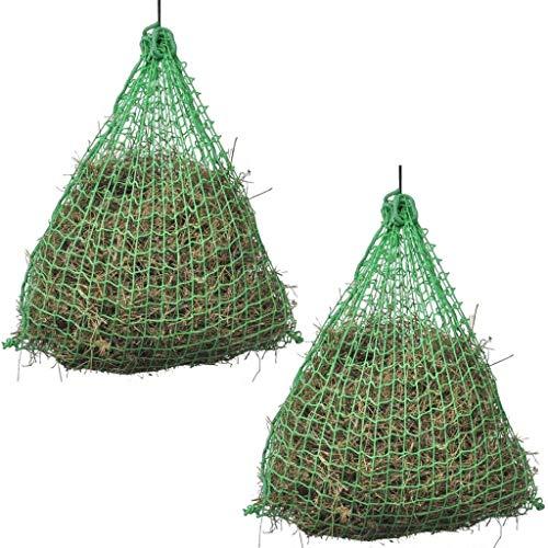 Vislone Heunetz 2 STK, 1 x 0,75 m Heu Netz,Maschenweite4.5 x 4.5 cm Heunetztasche aus PP