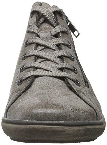 Rieker K3092, Sneakers Hautes Fille Gris (Cigar/25)