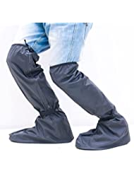 HHBO Negro impermeable lluvia botas cubierta de zapatos motocicleta protección exterior engranaje lluvia , m