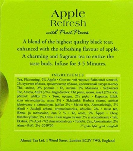 Ahmad Tea – Apple Refresh | Schwarztee-Mischung mit Apfelgeschmack | 20 Teebeutel á 2 g | Teebeutel mit Band