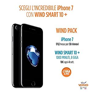 Apple iPhone 7 Smartphone, 32 GB, Choose Black (Anticipo) + SIM Wind ricaricabile con offerta Wind Smart 10 + Wind Pack
