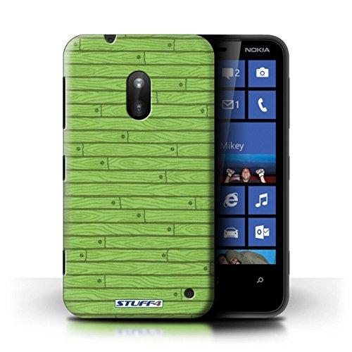 Kobalt® Imprimé Etui / Coque pour Nokia Lumia 620 / Bleu conception / Série Motif Bois Vert