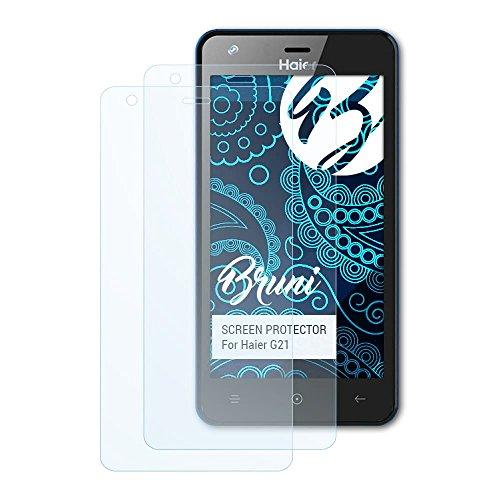 Bruni Schutzfolie kompatibel mit Haier G21 Folie, glasklare Bildschirmschutzfolie (2X)