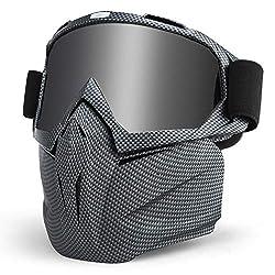 LAMEDA Motorcycle Mask Goggles Mens Motorcycle Goggle Face Mask Protective Mask Men Goggles Ski Goggles For Motorcycle Ski Snowboard Goggles Motorcycle Goggles UV Protection