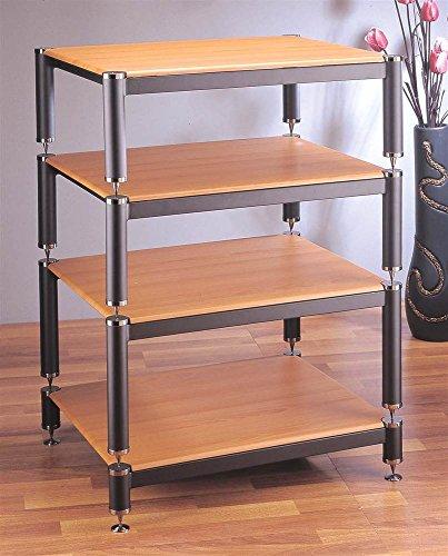 bl-series-stackable-audio-video-rack-gold-w-cherry-shelf